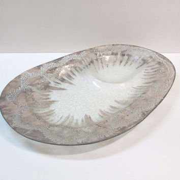 Dorothy C. Thorpe Mid-Century Modern Sterling Silver Atomic Pebble Large DIP Tray Mad Men