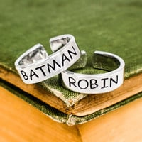 Batman and Robin Ring Set - Best Friends - Couples Ring Set