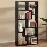 Enitial Lab Enitial Lab 27090 Artiz Contoured Black Finish Display Stand Bookcases / Shelving