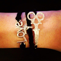 SALE Hairdresser Bracelet With Blow Dryer Charm