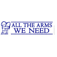 All The Arms We Need Bumper Sticker on Sale for $2.99 at HippieShop.com