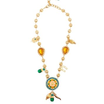 Floral and charm embellished necklace | Dolce & Gabbana | MATCHESFASHION.COM UK