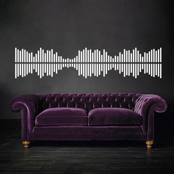 I157 Wall Decal Vinyl Sticker Art Decor Design Dance music player sound geometry disco dj light equalizer  wave sound volume