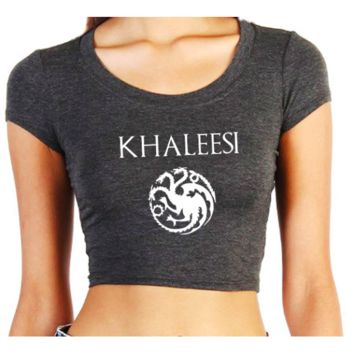 I'M NOT A QUEEN… I'M A KHALESSI CROPPED TOP
