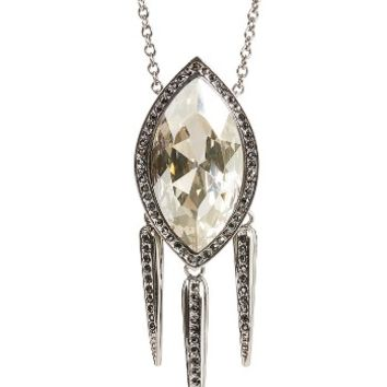 St. John Collection Swarovski Crystal Leaf Pendant Necklace | Nordstrom