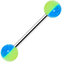 Funky GLOW in the DARK Barbell Tongue Ring | Body Candy Body Jewelry