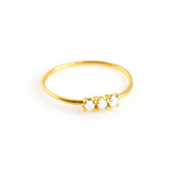 14kt Gold Opal Trio Ring