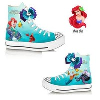 Little Mermaid Ariel girls shoe(NON-CONVERSE)
