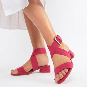 ASOS DESIGN Federal Wide Fit Flat Sandals at asos.com
