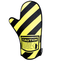 The Spoon Sisters Caution Oven Mitt