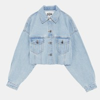 AUTHENTIC DENIM DAMAGED JACKET - JACKETS-WOMAN | ZARA Canada