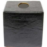 L'Objet Embossed Crocodile Tissue Box