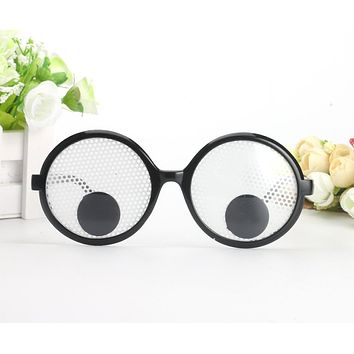 Funny Googly Eyes Goggles Shaking Eyes Party Glass