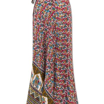 NEW! Elephant Boho Wrap Maxi Skirt