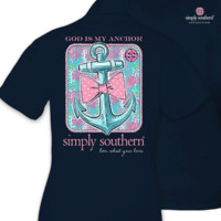 Simply Southern Anchor Tee - Navy