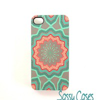 Mint And Coral IPhone 4 IPhone 4S C.. on Luulla
