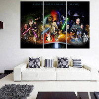star wars the force unleashed canvas print, star wars wall art, large canvas print, movie wall art, star wars art for bedroom 11m32