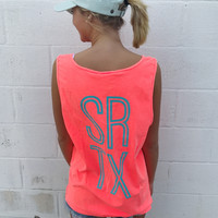 SRTX Custom Tank - Neon Red Orange
