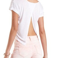 Flyaway Tab Sleeve Pocket Tee by Charlotte Russe