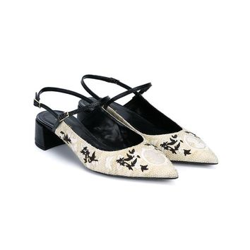 ERDEM | Aerin Flat Embroidered Sandals | Womenswear | Browns Fashion