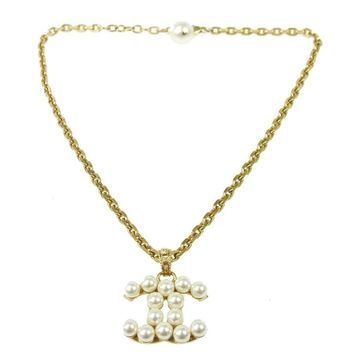 Chanel Gold Pearl Charm Chain Link Drape Drop Evening Pendant Necklace