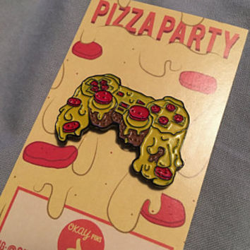 "Pizza Controller 1.5"" Enamel Pin"