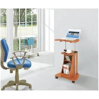Mobile Notebook Computer Cart with Storage Wood Grain - Techni Mobili : Target