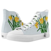 Daffodil Flower Watercolour Painting Trainers