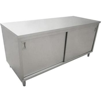 "Commercial Stainless Steel Work Prep Table Cabinet 24"" x 72"""