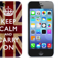 Vintage British Flag Print Plastic Protective Case for iPhone 5/5S