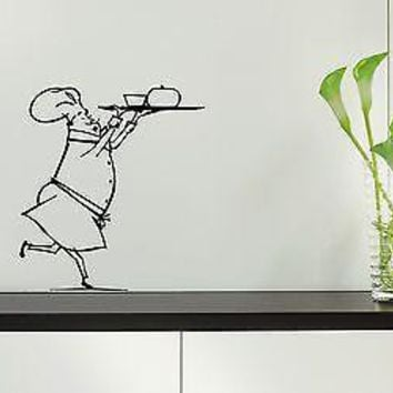 Wall Stickers Vinyl Decal Restaurant Cook Food For Kitchen Unique Gift ig1630