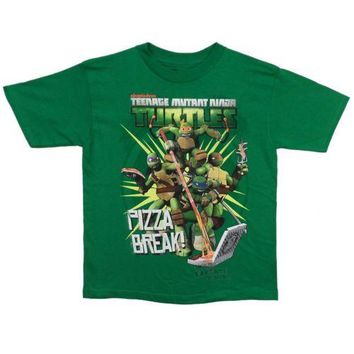 Teenage Mutant Ninja Turtles Pizza Break Boys T Shirt