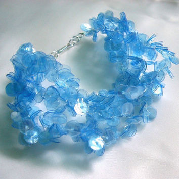 Recycled plastic bottle blue bracelet sea blue by dekoprojects