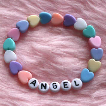 ANGEL Bracelet // Pastel Goth Kawaii Aesthetic