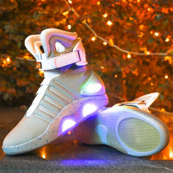Men Luminous Shoes 2017 Future Warrior Men Casual Shoes Flash Ankle Boots LED Lights Up Boots USB Charging Colorful Shoes
