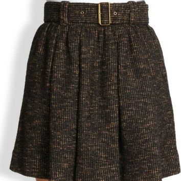 Nwt Burberry Brit Tweed Skater Skirt