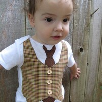 Cuddlestar Necktie and Vest Onesuit by adrianfraz on Etsy