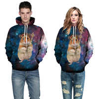 2016 New Fashion Couple Hoodies 3d Printed Long Sleeve Sweatshirts Autumn Casual Loose Plus Size Pullovers Sportswear Clothing