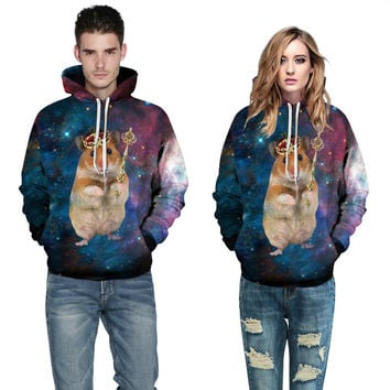 2016 New Fashion Couple Hoodies 3d Long Sleeve Sweatshirts