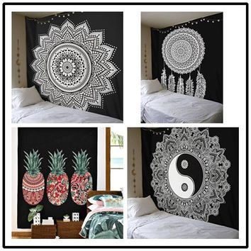 New Arrival 210*150cm Towel Yoga Mat Beach Towel Bedding Indian Tapestry Wall Hanging Astrology Beach Throw Home Decor