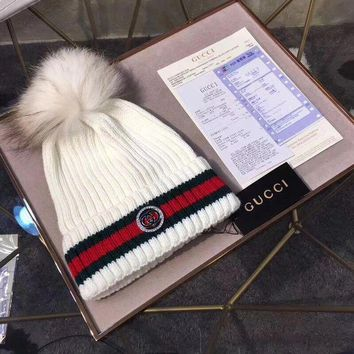 PEAPNQ2 GUCCI Fashion Rhinestone Beanies Knit Winter Hat Cap1