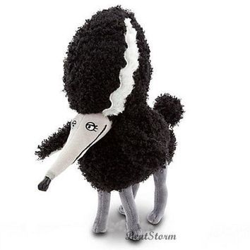 "Licensed cool 12"" NEW DISNEY STORE TIM BURTON FRANKENWEENIE PERSEPHONE Poodle Plush Dog animal"