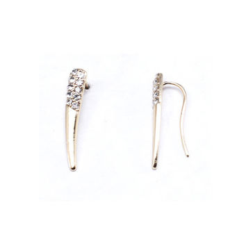 Gold Tusk Ear Crawlers | emmajoy