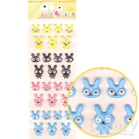 Bunny Rabbit With Googly Eyes Shaped Stickers for Scrapbooking
