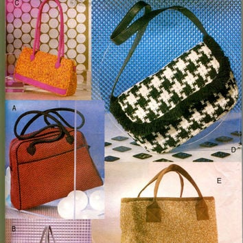Women's HANDBAG PATTERN Fall HandBag Purse Shoulder Strap Bags Accessories Vogue 9020 UNCuT Craft Sewing Patterns