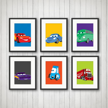 Cars Decor - Cars Bedroom Decor, Cars Print, Nursery Decor, Children's Room, Playroom Decor, Kids Room Decor, Cars Birthday, Bedroom Art