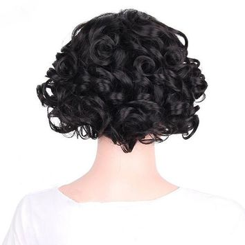 Short Fluffy Curly Hair Wig