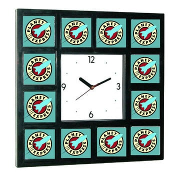 Futurama Planet Express headquarters big square clock