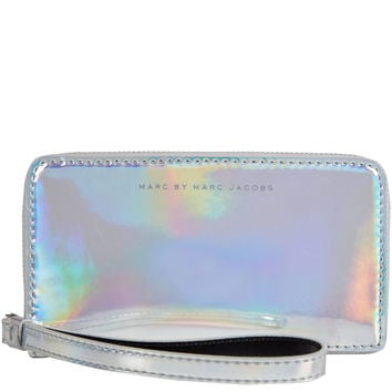 Marc by Marc Jacobs Silver Holographic Wallet | Wallets and Purses by Marc by Marc Jacobs | Liberty.co.uk