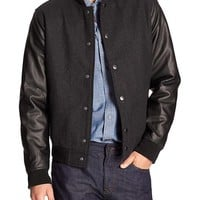 Banana Republic Factory Wool Blend Varsity Jacket